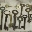 LOT OF 20 VINTAGE BRASS & METAL SKELETON DOOR, CLOCK LOCK KEYS #11