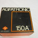 VINTAGE 1973 AGFATRONIC 150A ELECTRONIC FLASH W BOX USAGE MANUAL & WARRANTY CARD