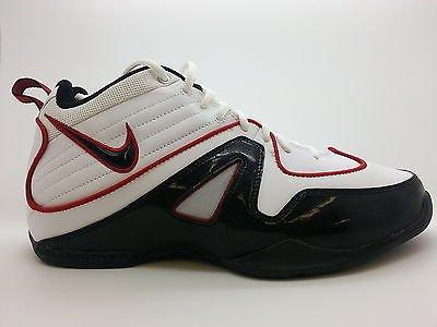 7d3b5788b  426523-162  Mens Nike Air Flight Above White Black Patent Red Training  Sneakers