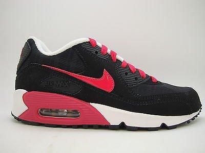 299fe6b040 [345017-062] Girls Youth Nike Air Max 90 2007 Black Very Berry Metallic Gold