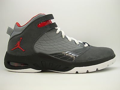 online retailer f97f8 b126a  469955-002  Mens Air Jordan New School Anthracite Varsity Red Clay Grey  Black