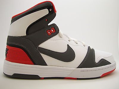 best website 8c5f2 4b303  525312-102  Mens Nike Mach Force Mid White Black Challenge Red Cross  Training