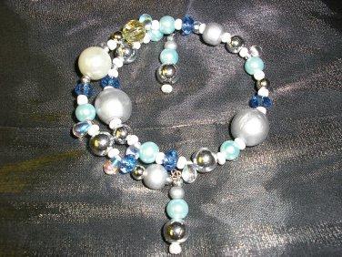 Double Dangle-End Sea Bead Memory Bracelet