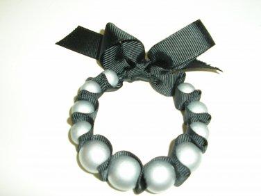 Ribbon Wrapped Bead Bracelet