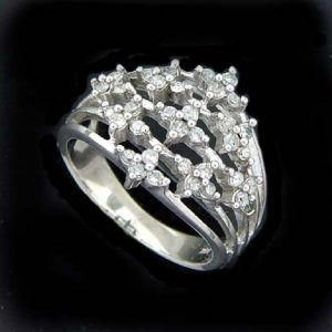 1/2 ctw. Diamond & Solid 10K White Gold Ring