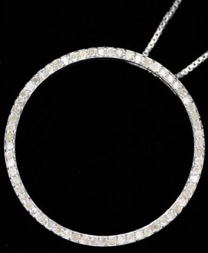 1ctw. Diamond Circle-Of-Love Necklace SS