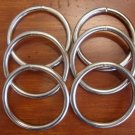"6 ct: 3 inch Welded Steel Metal ""O"" Rings/NICKEL PLATE/7.8mm GAUGE/macrame/craft"