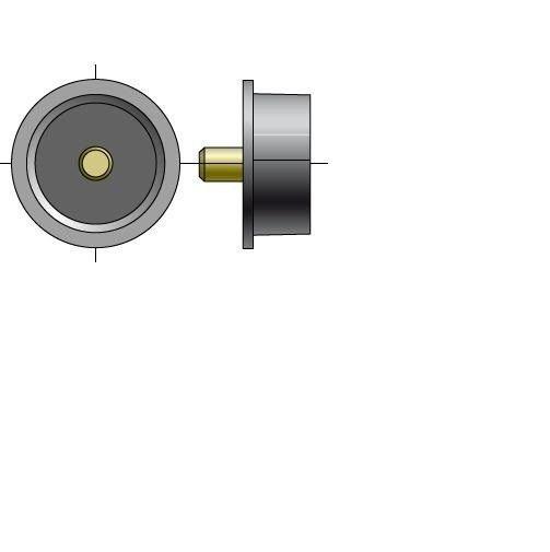 1 QTY: Somfy 2.0in Tube 10mm Shaft End Cap
