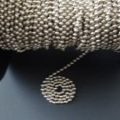 10 FEET : Nickel Plated Brass Beaded Chain #10  for Rollershades/Vertical Blinds