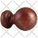 Kirsch Buckingham Wood Ball Finial for 3 Inch Pole:Aged Gold