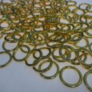 Heavy Duty Sew On Rings, Brass, 1/2 inch Diameter : 50 rings