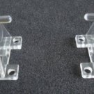 Hold Down Plastic Bracket For 2 1/2 inch Horizontal Blind- Pack of 10 - Clear