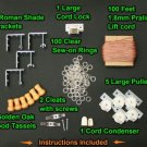 """All-in-One LARGE ROMAN SHADE HARDWARE KIT, Golden Brown (for shades up to 72"""""""