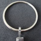 "SILVER Dual Finish Curtain Rings, 2"" Diameter, w/ Brushed Steel Clips (10)"