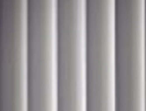 5 QTY: PVC Vertical Blind Replacement Slat (White/Smooth/Curved)  84 X 3 1/2