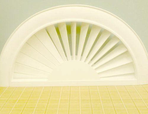 """Premium Faux Wood Arch, White, Width: 28 1/4 - 31 3/4"""", Height: 14 1/8 - 15 7/8"""""""