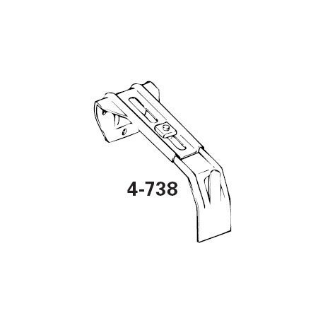 """Graber Dauphine Curtain Rod Center Support Bracket/for 2.5 & 4.5""""  Dauphine Rod"""