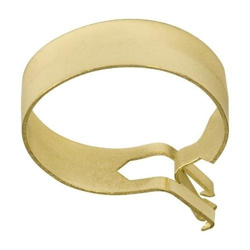 Graber 1-Inch Round Cafe Curtain Clips, Brass - 14 Clips per Package