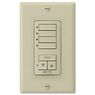 Somfy DecoFlex WireFree RTS Wall Switch, 4 Channel, Ivory (MPN# 1811075)