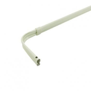"Graber Lock Seam Curtain Rod, 84- 120"" Adjustable , 3 1/2-Inch Projection, White"