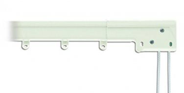 "Graber Super Heavy Duty Traverse Curtain Rod 66-120"", White/Center Draw #0-603-1"