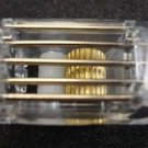 MINI BLIND Cord Lock with Brass Wheel, CLEAR / for Horizontal/Venitian Blinds (1
