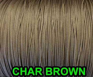 25 YARDS: 1.2 MM, CHAR BROW Professional Grade LIFT CORD for Window Treatments