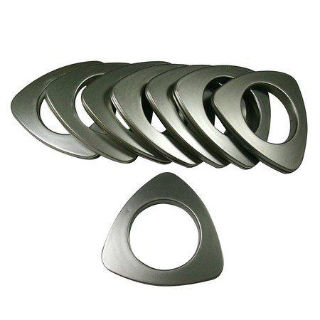 "Triangle #15 Plastic Grommet, 1 7/8"" Id, 8 Sets, Matte Nickel"