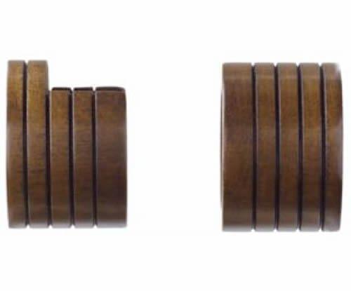 "Kirsch Wood Trends Classics  Inside Mount Sockets  for 1 3/8"" pole, Hazelnut (MP"