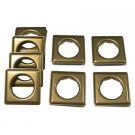 "Fast-set Metal, #12 Square Grommet, 1 9/16"", 8 Sets, Ant. Brass"