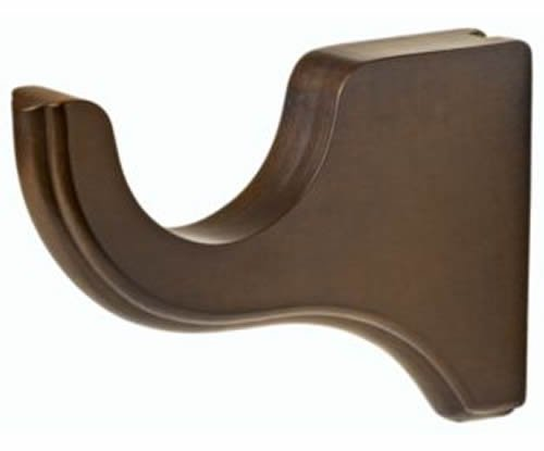 "Kirsch Wood Trends Classics 6"" Return Bracket for 3"" pole,  Hazelnut (MPN# 59133"