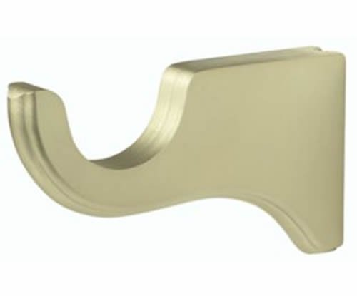 "Kirsch Wood Trends Classics  6"" Return  Bracket for 1 3/8"" pole, Satin Gold (MPN"