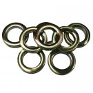 "- 1 3/8"", 8 Sets #10 Plastic Grommet, Brushed Antique Brass"