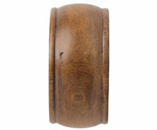 "Kirsch Wood Trends Classics End Cap Finial, for 2"" pole, Estate Oak (MPN# 468088"