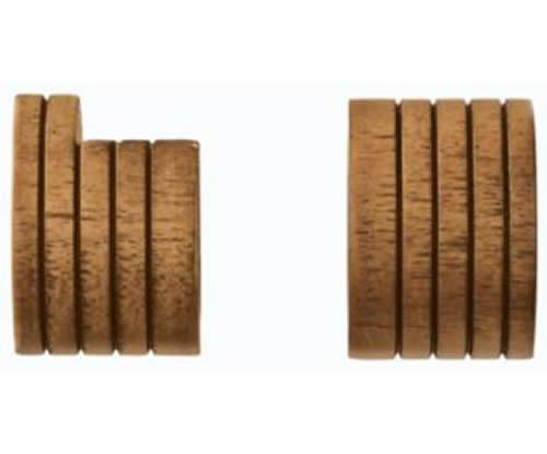 """Kirsch Wood Trends Classics  Inside Mount Sockets  for 1 3/8"""" pole, Estate Oak ("""