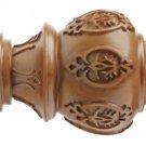 "Kirsch Wood Trends Classics Lacey Finial, for 1-3/8"" pole, Estate Oak (MPN# 3680"