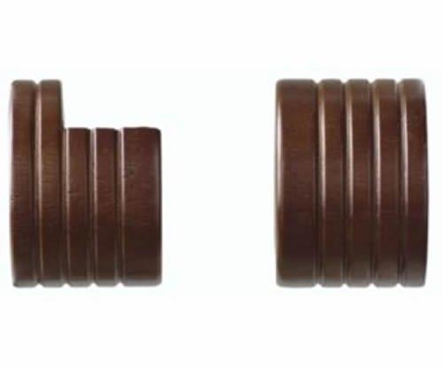 "Kirsch Wood Trends Classics  Inside Mount Sockets  for 1 3/8"" pole, Mahogany (MP"
