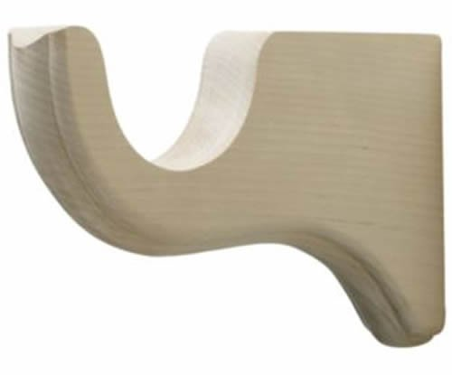 "Kirsch Wood Trends Classics  6"" Return  Bracket for 1 3/8"" pole, Unfinished (MPN"