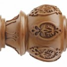 "Kirsch Wood Trends Classics Lacey Finial, for 3"" pole, Estate Oak (MPN# 56804820"
