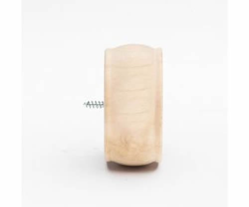 """Kirsch Wood Trends Classics End Cap Finial, for 3"""" pole, Unfinished (MPN# 568080"""