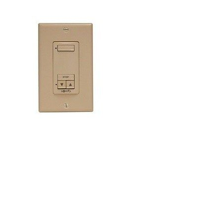 1 QTY: Somfy 1 CHANNEL DECOFLEX RTS WALL SWITCH, in  ALMOND (MPN # 1811180)