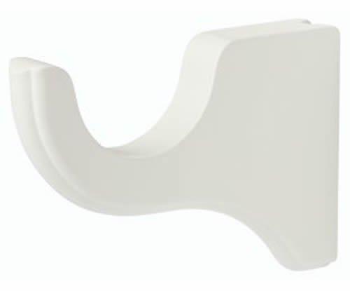 "Kirsch Wood Trends Classics 6"" Return Bracket for 3"" pole,  White (MPN# 59133025"