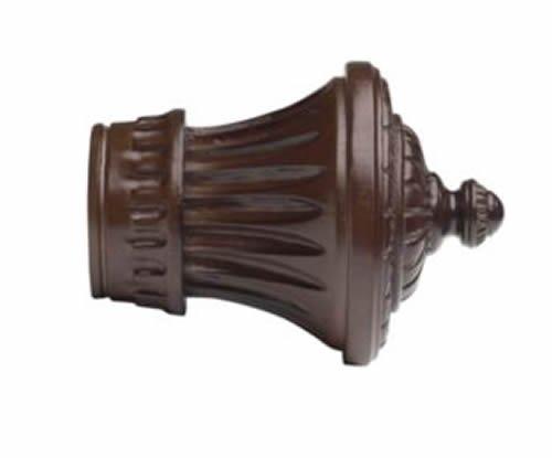 "Kirsch Wood Trends Classics Charleston Finial, for 3"" pole, Mahogany (MPN# 56802"