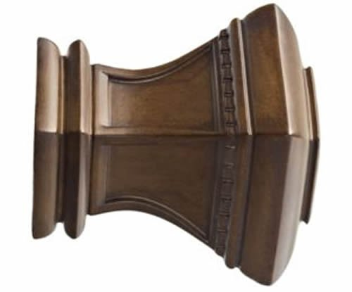 "Kirsch Wood Trends Classics Bristol Finial, for 3"" pole, Hazelnut (MPN# 56810827"