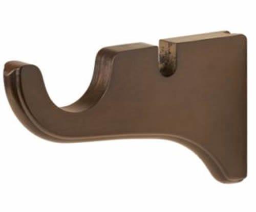 "Kirsch Wood Trends Classics Doubled Bracket for 2"" pole,  Hazelnut (MPN# 5515827"