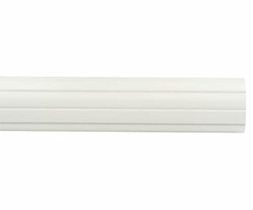 """Kirsch Wood Trends Classics Fluted 3""""  Drapery Pole, White 8 FT  (MPN# 59308025)"""