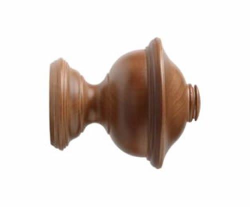 "Kirsch Wood Trends Classics Chaucer Finial, for 1 3/8"" pole, Walnut (MPN# 368070"