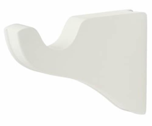 """Kirsch Wood Trends Classics 3 1/2"""" Return End Brackets for 1 3/8"""" pole, White, 1"""
