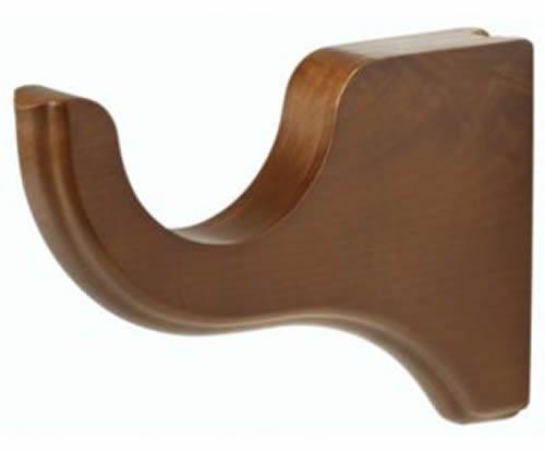 """Kirsch Wood Trends Classics 3 1/2"""" Return Bracket for 2"""" pole,  Walnut (MPN# 550"""