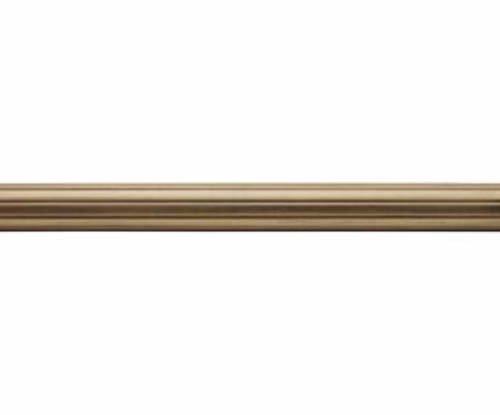 """Kirsch Wood Trends Renaissance Fluted 2""""  Drapery Pole, Golden Heirloom 4 FT  (M"""